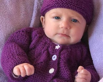 Hand Knitted Infant Hats and Sweaters