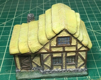 15mm Timber Stonehouse with Thatch roof