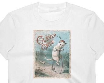Clever Cats Crop top Funny Cat Shirt Cat Lovers Shirt Crazy Cat Lady Cat Mommy Kitten Tee Cat Gift Meow Cat T-Shirt Fur Mom Shirt CropTop
