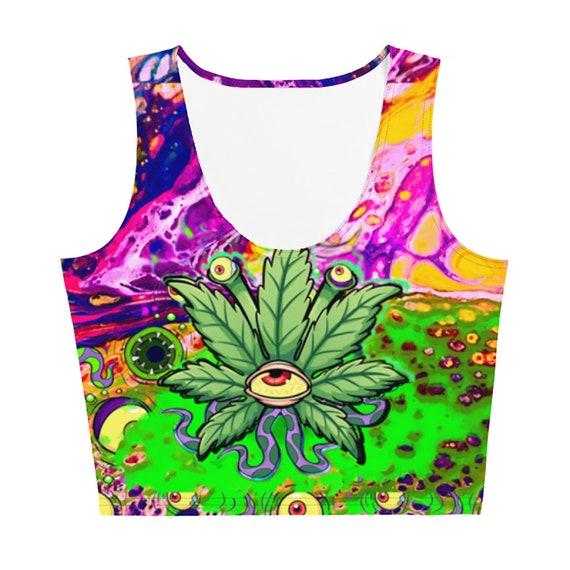 Alien Weed Yoga Leggings Workout Clothing Marijuanna Woman/'s Stretch Pants 420 Festival Wear EDM Rave Vaporwave  Stoner Comfy Clothes