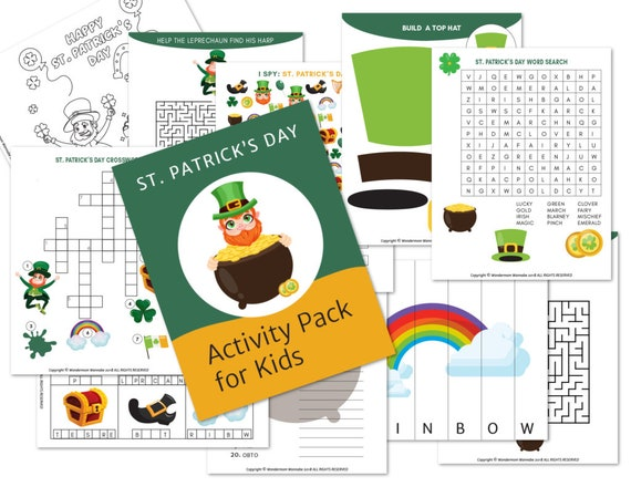 St. Patrick's Day Activity Kit for Kids