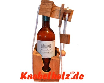 Wine bottles puzzle, get the drink puzzle, bottle puzzle, wine closure, gift idea for friends and family wood puzzle for wine bottle