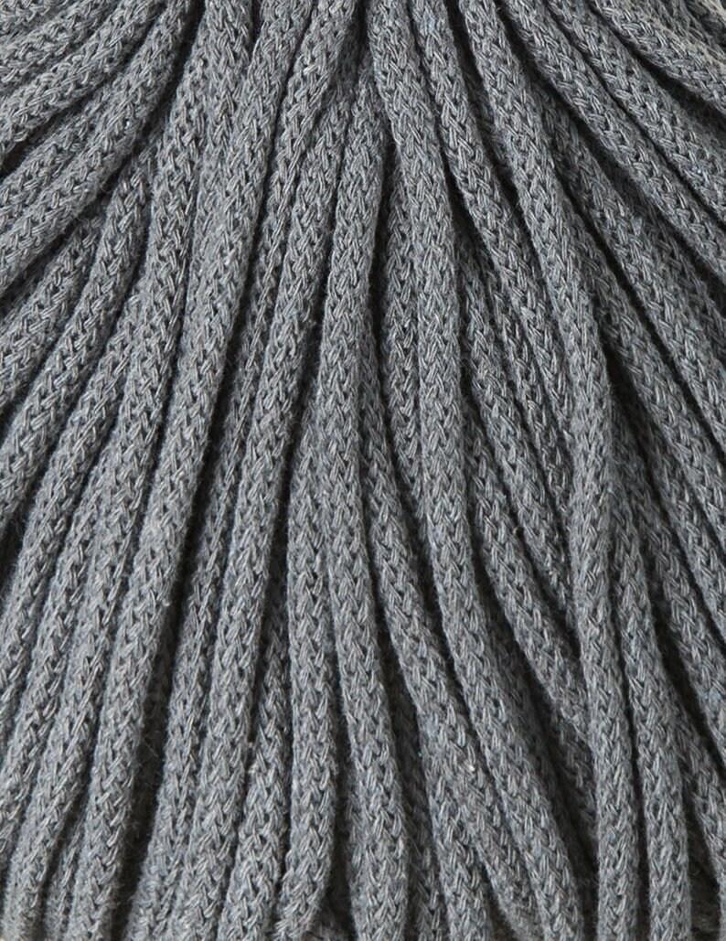 Craft Cord 108 Yards Cotton Rope Chunky Yarn Macrame Cord 5mm Steel Braided Cotton Cord Bobbiny