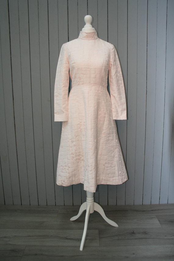 1960s Pastel Pink Dress