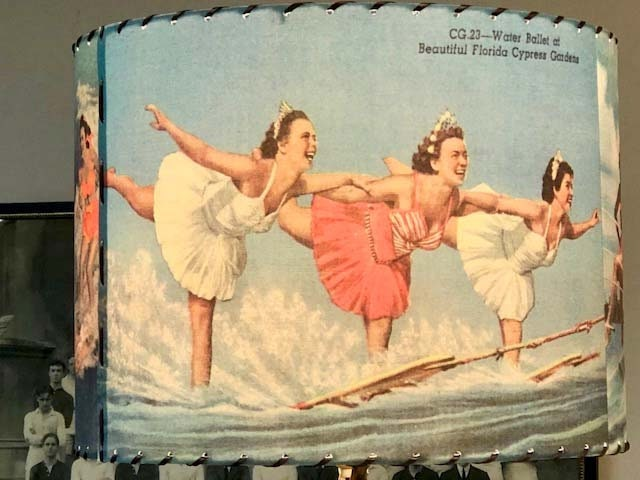 Classic Aqua Maids Cypress Gardens Vintage Images Lamp Shade . . . Great for Cottage, Camp, Home, Lodge, Cabin or Farmhouse decor USA MADE