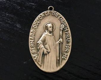 Patron Saint of Beekeepers//Candlemakers Bernard of Clairvaux Medal 14kt Gold St