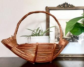 Vintage Banana Boat Basket Planter