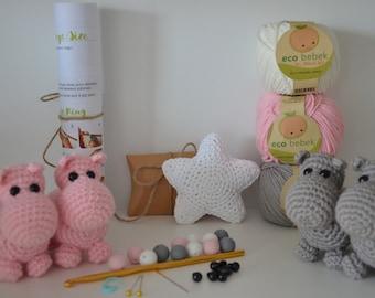 DIY baby mobile kit, Kit for baby mobile, Do It Yourself, DIY Mobile, DIY Crib Mobile, Baby Mobile, Nursery Decor, Crib Mobile, Hippo mobile