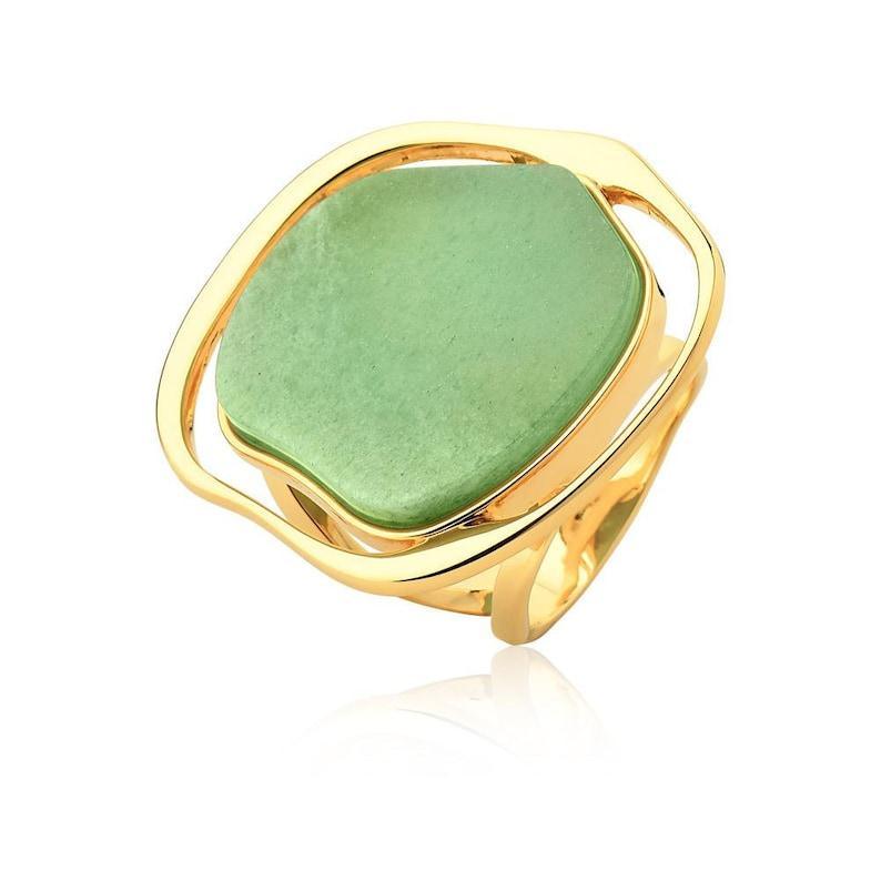 Ring MD 1183 AU Green Agate
