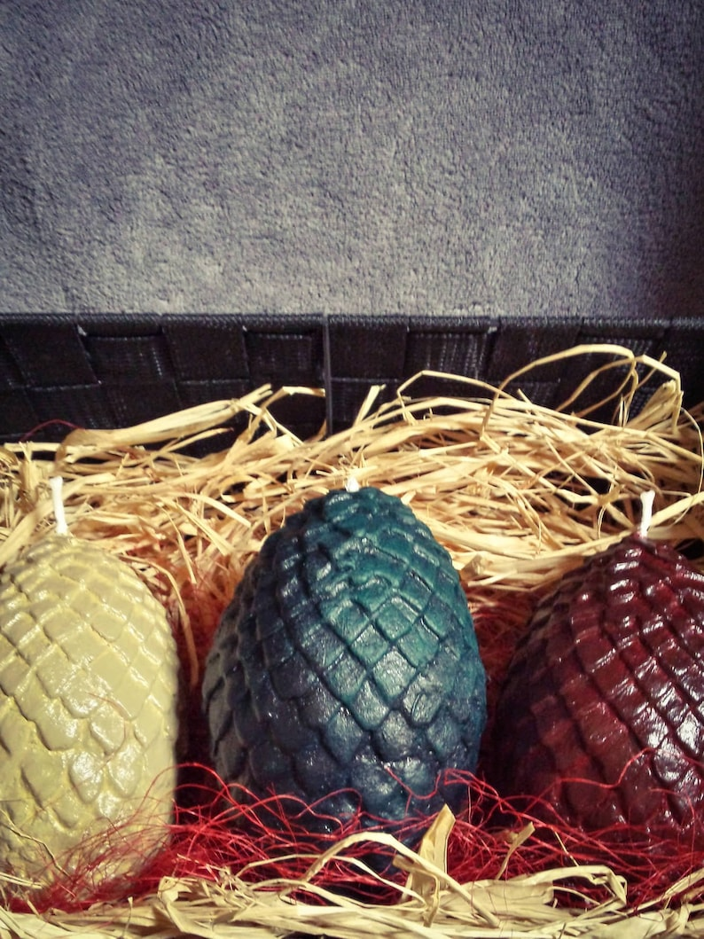 batch 3 Dragon's eggs inspired by Games of thrones - Geek - Daenerys  Cosplay - Gift men - dragon egg candle -got dragon eggs game of throne