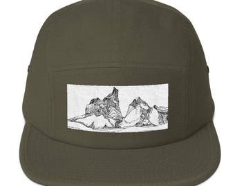 Embroidered Five Panel Hat