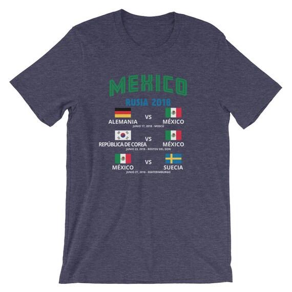 Camiseta Mexico Copa Mundial 2018 Rusia Short-Sleeve Unisex T-Shirt 7e375fb937