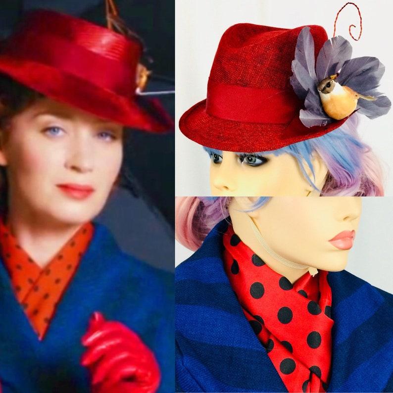 Mary Poppins restituisce 2018 ispirato rosso o blu stile di  9f1b4bf641ba
