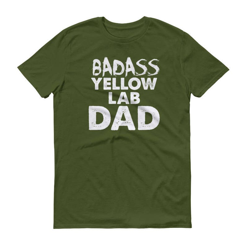 47e4cf05 Badass Yellow Lab DAD T-Shirt Funny Yellow Labrador Shirt | Etsy
