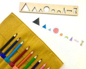 Montessori Grammar Pencil Roll - Now with grammar stencil option!