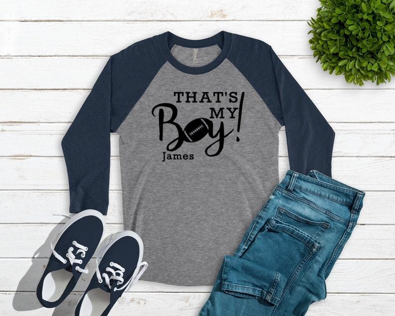 a1840b4e4 That's My Boy Football Mom Shirt For Women Womens | Etsy