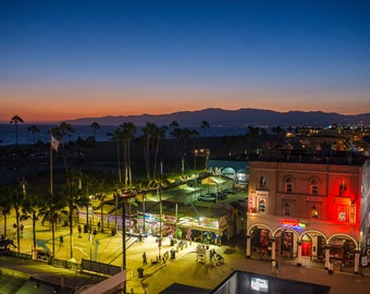 Windward Avenue,Venice Beach Photos,Aerial View of Venice, Digital Download