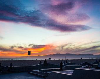 Venice Skatepark Sunset,Digital Download,Venice Beach,California