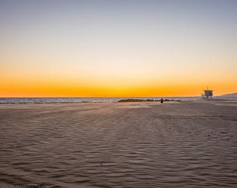 Winter,Sunset,Venice Beach,High Quality Print,Premium Lustre