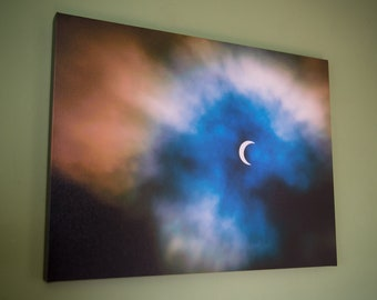 Venice Beach Eclipse,Canvas,Wall Art,24x18