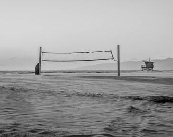 Winter,Sunset,Venice Beach,Black&White,High Quality Print,Premium Lustre