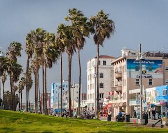 Venice Boardwalk,Sunshower,Venice Beach,High Quality Print,Premium Lustre