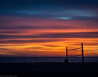 Sunset Silhoutte,Venice Beach,High Quality Print,Premium Lustre