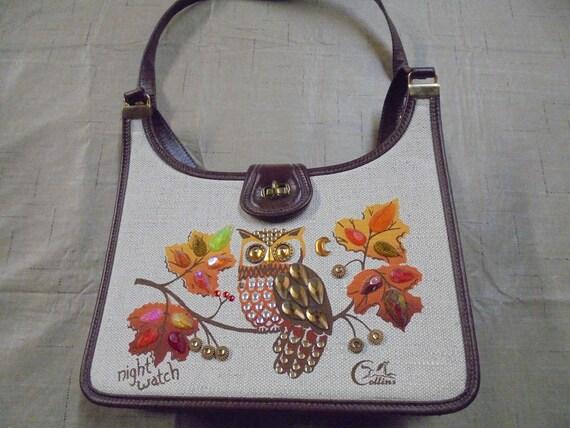 Vintage Enid Collins Night Watch Handbag Purse