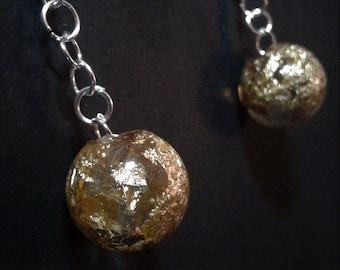 Golden Globes in Resin Earings