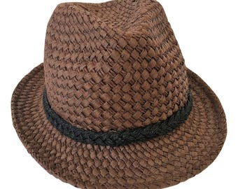 Unique Handmade Men or Women Summer Fedora Trilby hat