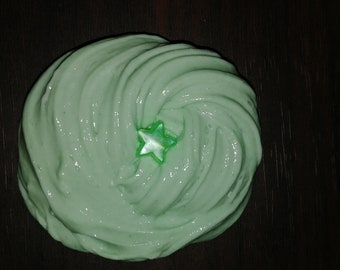 Minty green slime //scented mint