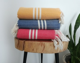 "Bide Artisan Handwoven, Herringone Turkish Towel,Shawl, Large Scarf,Pareo,40""x 76"""