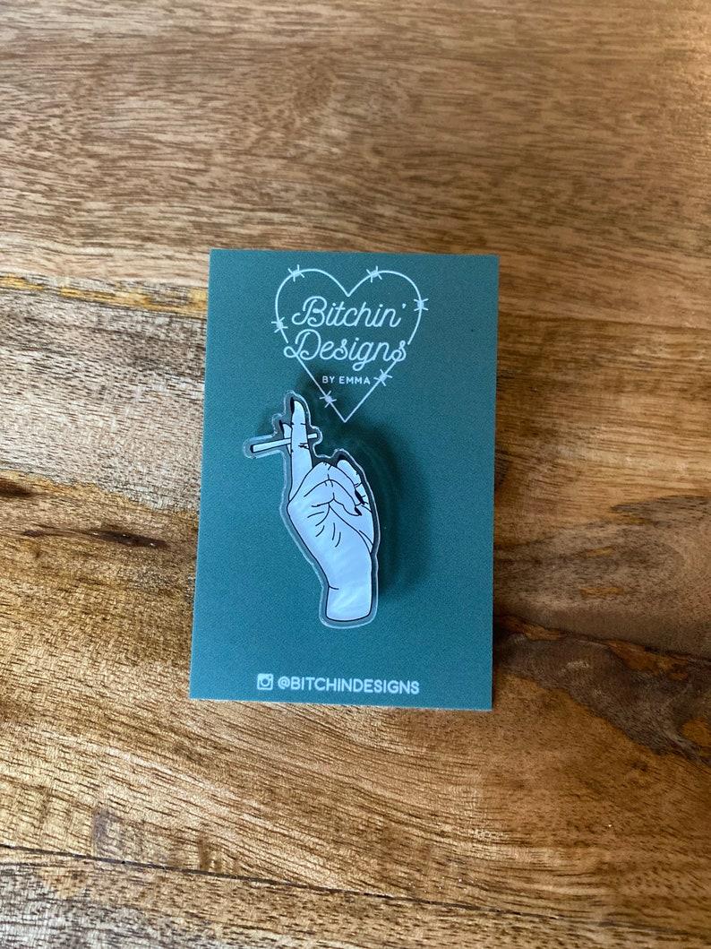 MaryJane hand acrylic pin