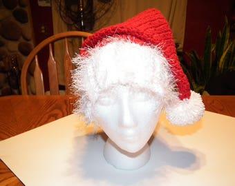 Crochet Santa hat, Adult Santa Hat, Crochet Christmas Hat, Santa hat,gift for her, gift for him, READY TO SHIP
