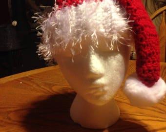 Crochet Santa hat  - multiple sizes, Adult Santa Hat, Kids Santa Hat, Crochet Christmas Hat, gift for her, gift for him, gift for kid