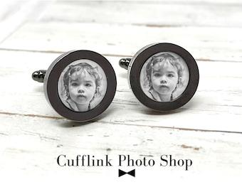 Personalized Cufflinks, Custom Cufflinks, Photo Cufflinks, Cufflinks Photo, Custom Photo, Gift for Dad, Cufflinks For Dad, Groomsmen Gift