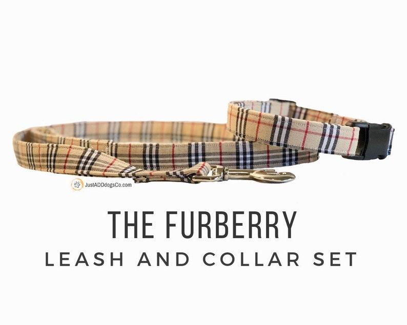 b4ffe855999 FURberry Burberry Dog Collar Burberry Dog Leash Burberry