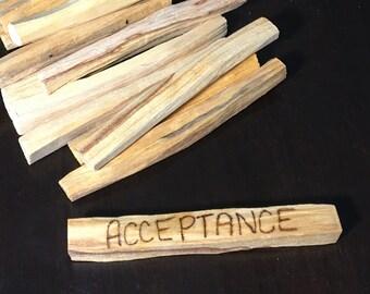"Acceptance Palo Santo Smudge Stick 4"""