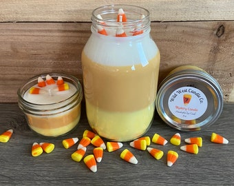 Candy Corn Mystery Candles