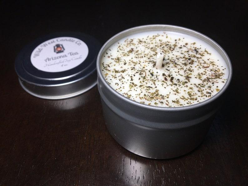 8oz Arizona Tea Herbal Soy Candle Green Tea & Lemongrass image 1