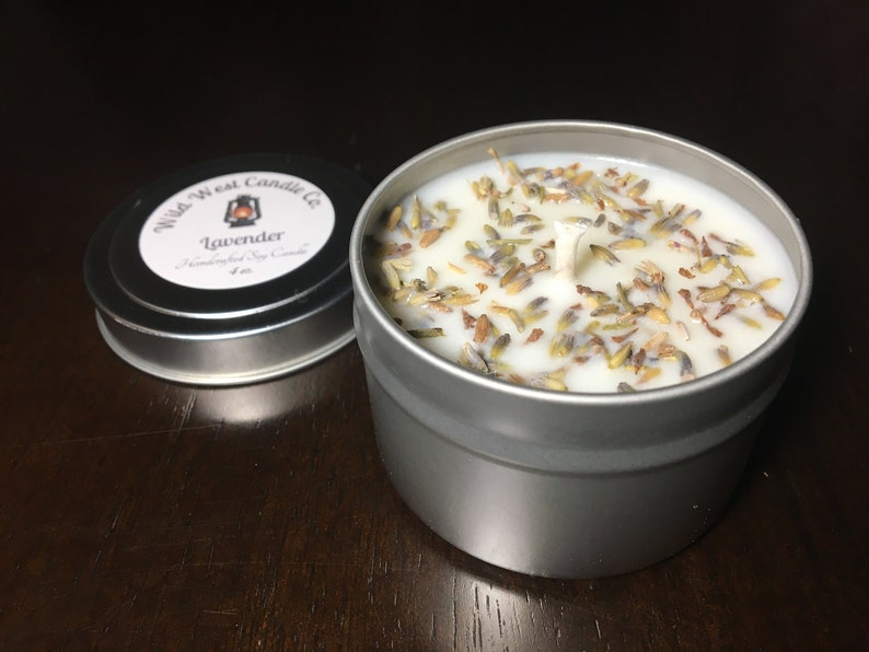8oz Lavender Herbal Soy Candle Relaxation Candle image 1