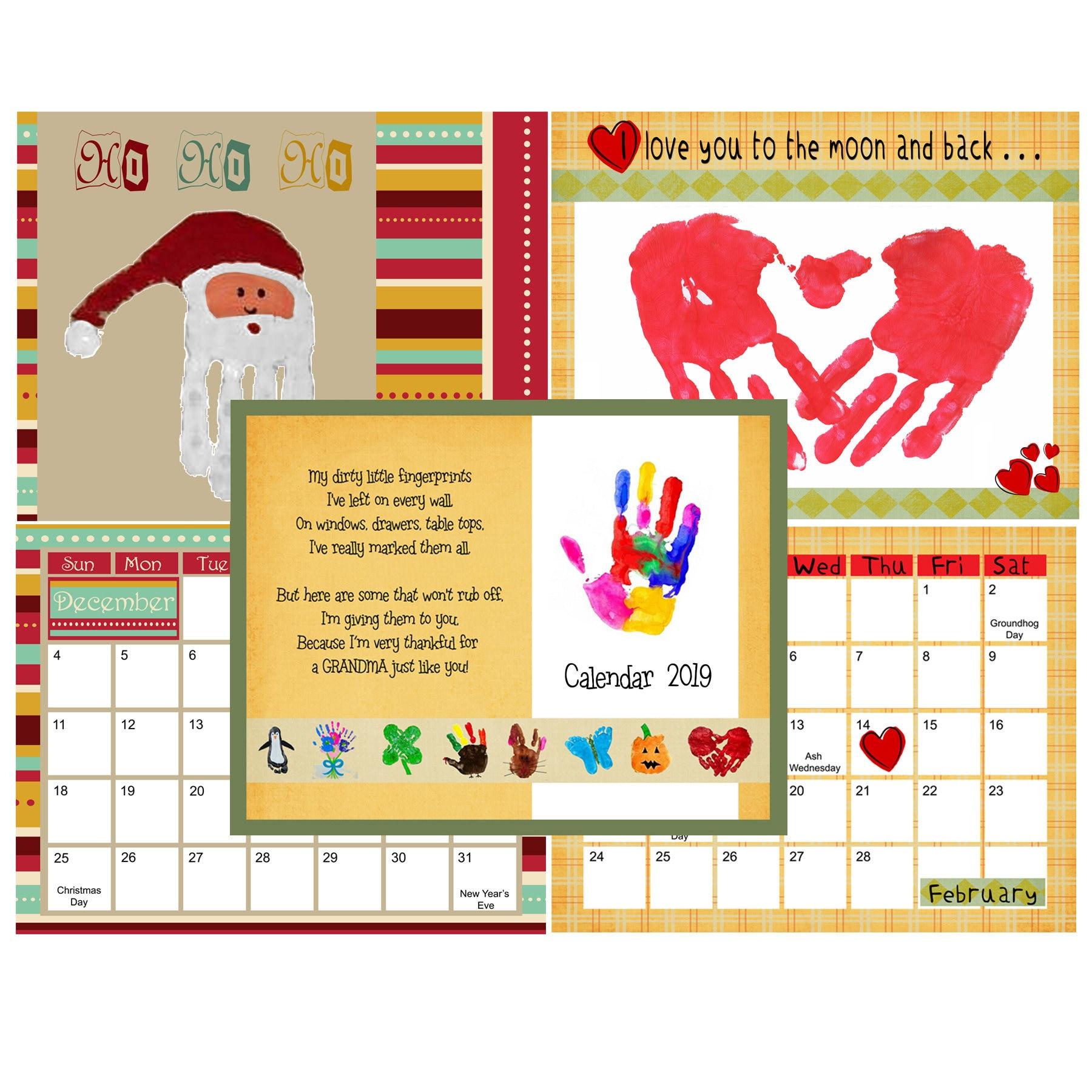 Handprint Calendar Printable Topsimages