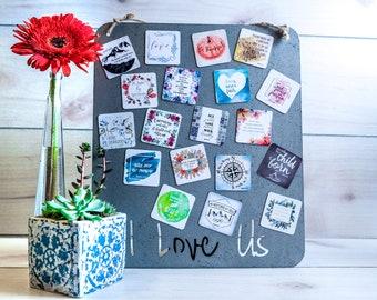 Gift for her Stocking Filler for Him 2x2 Custom Photo Magnets Best Friend Gift   5x5cm Christmas Sale Boyfriend Gift