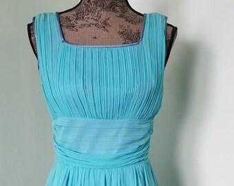 Tiny Bows in Blues Flare Dress