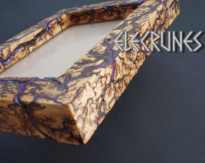 Fractal Wood Burning  Lichtenberg Wood Picture Frame 3D Continuous Fractal Patterns Men Gift #X34BCB