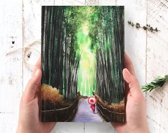 Japan Journal - hardcover journal, Kyoto nature art journal, Arashiyama art journal, Thanksgiving gifts