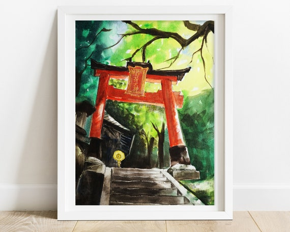 Keyring Travel Kitchen Kyoto Japan Printed