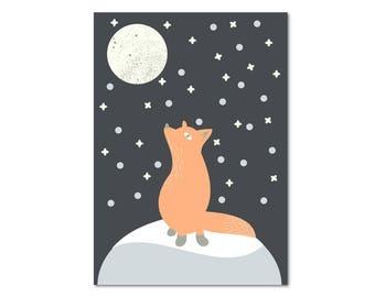 Postcard - Fox