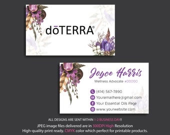 Doterra business cards etsy doterra business cards essential business cards essential oils cards personalized doterra business cards digital file dt16 cheaphphosting Image collections