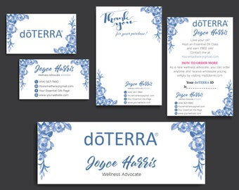 Doterra business cards etsy doterra business cards doterra information cards notepad cards personalized doterra business cards digital file dt11 flashek Image collections